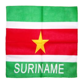 BANDANA SURINAME licht 55x55 cm hoofddoek zakdoek surinaamse vlag