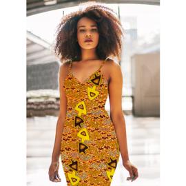158 Afrikaanse stof | African Wax Print 100% cotton  | prijs/meter