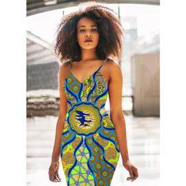 147 Afrikaanse stof | African Wax Print 100% cotton  | prijs/meter
