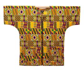DASHIKI vest met rits KENTE GHANA   african wax print   unisex   maat L