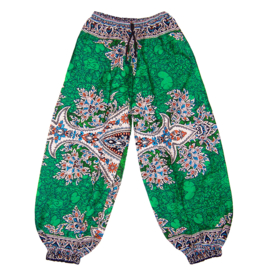 DASHIKI HAREM BROEK etnische print EMERALD | dames party aladdin pants maat M/L