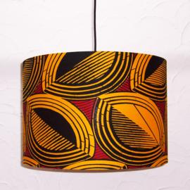 COCONUTS afrikaanse lampenkap | diameter 40 cm | Vlisco Wax Block print