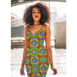 159 Afrikaanse stof | African Wax Print 100% cotton  | prijs/meter