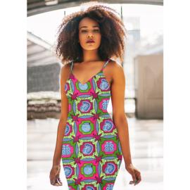 160 Afrikaanse stof | African Wax Print 100% cotton  | prijs/meter