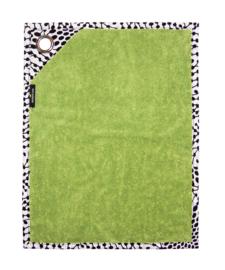 GASTENDOEKJES set LIME GROEN met afrikaanse print   30x40 cm   kadoset met zeepje, wandhaak + cadeautasje
