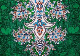 AFRICAN DASHIKI SHIRT etnische print EMERALD | unisex zomer party festival blouse
