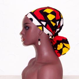 HOOFDDOEK SAMACACA ANGOLA | afrikaans sjaaltje | katoen 111 x 31 cm
