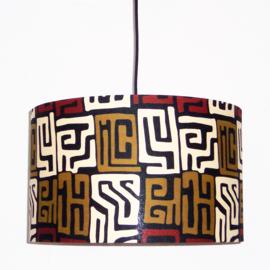 KUBA afrikaanse lampenkap | diameter 40 cm | African Kuba print