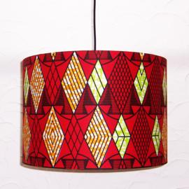 TANISHA afrikaanse lampenkap | diameter 40 cm | Vlisco Super-Wax Print