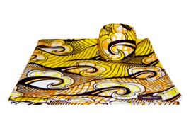 BANDANA + BANGLE set | Yellow Happiness | hoofddoek/zakdoek en armband