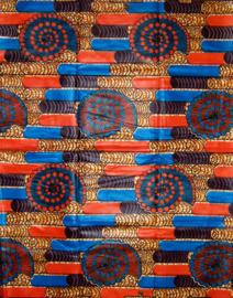 136 Afrikaanse stof | African Wax Bazin (Damast) 100% cotton  | prijs / yard