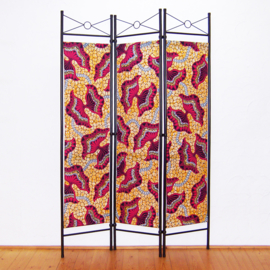 Kamerscherm HOT PINK-ORANGE | 3-delig, vouwbaar | room divider | 180 cm x 120 cm