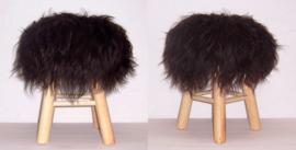 BLACK krukje boho chic met weelderige schapenvacht