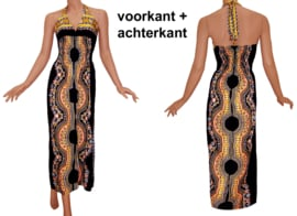AFRICAN GYPSY HALTERJURK ZWART | sexy lange jurk in 3 maten