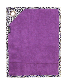 GASTENDOEKJES set VIOLET & LAVENDEL met afrikaanse print | 30x40 cm | kadoset met zeepje, wandhaak + cadeautasje