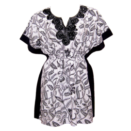 Afrikaanse dashiki jurk GRACE | kaftan-jurkje met elastische taille | african Wax Print