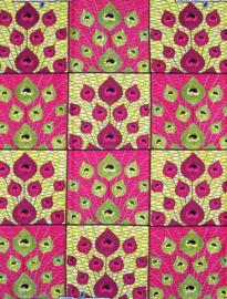 155 Afrikaanse stof | African Wax Print 100% cotton  | prijs / yard