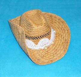 IBIZA HOED met gehaakte band en glaskralen | strandhoed