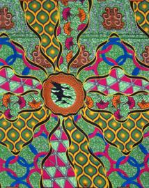 145 Afrikaanse stof | African Wax Print 100% cotton  | prijs / yard