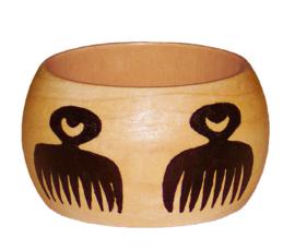 BANGLE BEAUTY | 4,8 cm brede houten armband met West-Afrikaans Adinkra Symbool