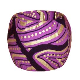 BANGLE | Purple Romance | armband met afrikaanse wax print
