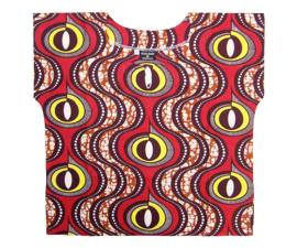 AFRICAN DASHIKI shirt OMARI MINI | kort & sexy voor tienermeiden maat S-36