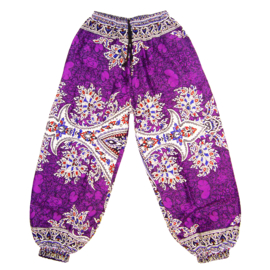 DASHIKI HAREM BROEK etnische print VIOLET | dames party aladdin pants maat M/L