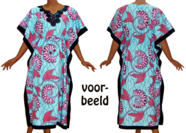 KAFTANJURK ZARINA ZALMROZE afrikaanse wax print | ONE SIZE past maat M-XXXL