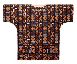 Afrikaans DASHIKI shirt MUD CLOTH MALI brown | african wax print | unisex party blouse
