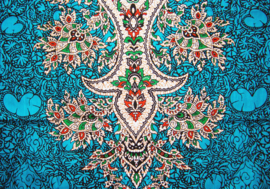 AFRICAN DASHIKI SHIRT etnische print AQUA | unisex zomer party festival blouse