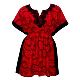 Afrikaanse dashiki jurk CHAKA | kaftan-jurkje met elastische taille | african Wax Print