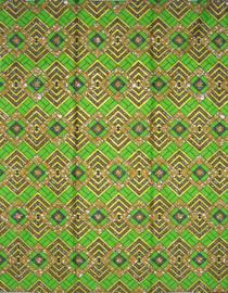 163 Afrikaanse stof met gouden glitters | Polycotton | prijs / yard