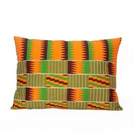 KENTE sierkussen met afrikaanse Kente print | 55x40 cm
