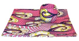 BANDANA + BANGLE set | Pink Innocence | hoofddoek/zakdoek en armband