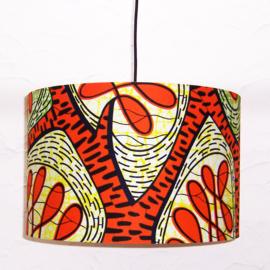 XYRISSE afrikaanse lampenkap | diameter 40 cm | Vlisco Super-Wax Print