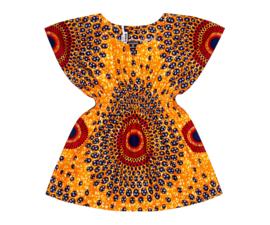 DASHIKI JURKJE KISSA met elastische taille | afrikaanse wax print | maat M = 4-5 jaar