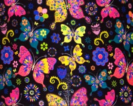 BUTTERFLY lampenkap doorsnee 40 cm exotische vlinder print