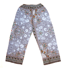 DASHIKI BROEK etnische print WHITE | unisex zomer party festival pants in 3 maten
