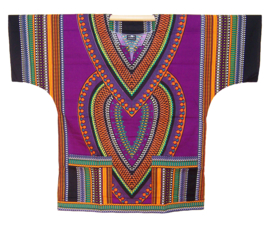 AFRIKAANS DASHIKI SHIRT heart PAARS | unisex zomer party festival blouse
