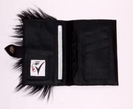 ONYX zwarte leren portemonnee met geitenhuid