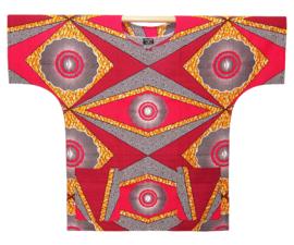 Afrikaans DASHIKI shirt ELANA | african wax print | unisex zomer party festival blouse
