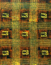 004 GHANA batik GREEN 100% cotton | prijs / yard