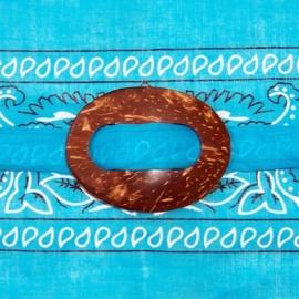 SARONGSLUITING OVAAL gesp van kokosnoot voor tas, jurk, pareo en sarong
