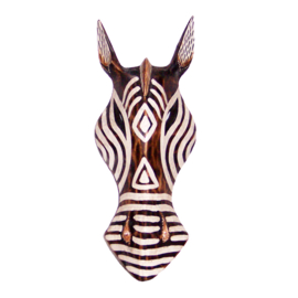 ZEBRA masker 28 cm | houten afrikaans dierenmasker (#2)