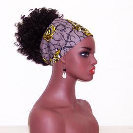 HOOFDDOEK BADRU | smal sjaaltje afrikaanse print | katoen 118 x 18 cm