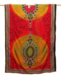 KAFTAN LEOPARD RED afrikaanse print | maat M-XXXL