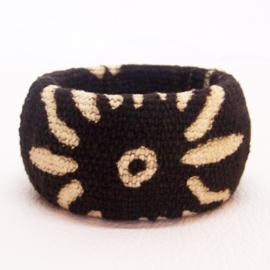 COWRY armband #2 african chic van bogolan mud cloth