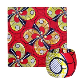 BANDANA + BANGLE set | Red Passion | hoofddoek/zakdoek en armband