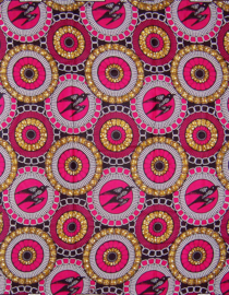 142 Afrikaanse stof | African Wax Print 100% cotton  | prijs / yard