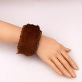 EKENE leren bohemian armband koeienhuid bruin size M